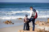 Family at the beach — Foto de Stock