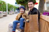 Familie einkaufen — Stockfoto
