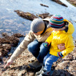 Family at tide pools — Stock Photo #38278159