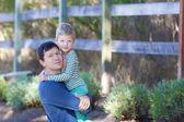 Razem kochającą rodzinę — Zdjęcie stockowe
