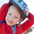 Boy in helmet — Stock Photo