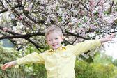 Boy at spring time — Stock fotografie