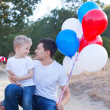 Family celebrating 4th of July — Stock Photo #48139435