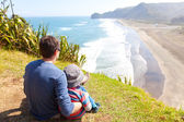 Family in new zealand — Stock Photo