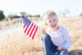 Boy celebrating 4th of July — Stock fotografie