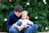 Familie an weihnachten — Stockfoto