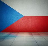 Flag in empty room — Stock Photo