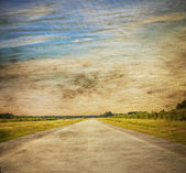Road in a fields — Stock Photo