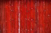 Muro in legno rosso — Foto Stock