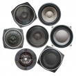 Set of sound speakers - Stock Photo