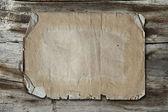 Vintage papper på trä textur — Stockfoto