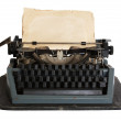 Vintage typewriter with paper isolated — Stock Photo #2296863