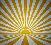 Old grunge room with retro sun rays — Stock Photo