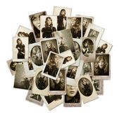 Stack av vintage bilder — Stockfoto