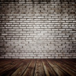 Old room with brick wall — Stock Photo #27160943