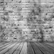 Old room with brick wall — Stock Photo #31538623