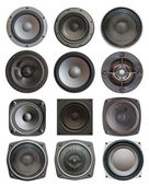 Sound speakers isolated — Stock Photo