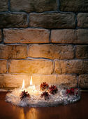 Candles against a wall — Foto de Stock