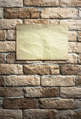 Paper on wall — Stock Photo