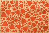 Background with vintage hearts — Stock Photo