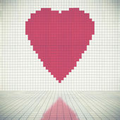 Heart silhouette on wall — Stock Photo