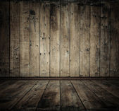Chambre en bois ancienne — Photo