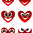 Red love smiles — Stock Vector #18916245