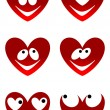 Love cute smiles — Stock Vector