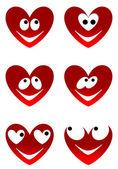 Love cute smiles — Stock Vector