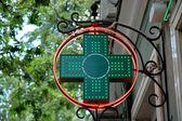 Green medical sign — Stock Photo