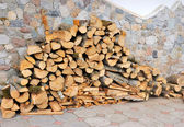 а pile of firewood — Стоковое фото