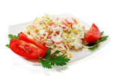 Salad of crab meat — Stock Photo