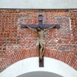 Iiesus crucified on the cross — Stock Photo