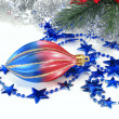 сhristmas decorations and tinsel — Stock Photo
