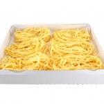 Pasta in a box — Stock Photo