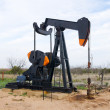 Stock Photo: Oil pump jack in Texas, USA