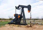 Oil pump jack in Texas, USA — Stock fotografie
