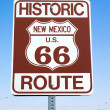 Road sign  Historic route 66, New Mexico US — Stock Photo