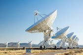Vla (very large array) - группа радио-телескопов в новой мекси — Стоковое фото