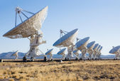 VLA (Very Large Array) - a group of radio telescopes in New Mexi — Stok fotoğraf
