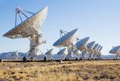 Vla (very large array) - группа радио-телескопов в новой мекси — Стоковое фото