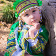 Foto de Stock  : Girl in Russinational costume