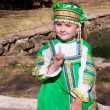 Stock Photo: Girl in Russinational costume