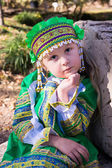 Girl in Russian national costume — Stock Photo