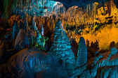 Stalactites and stalagmites — Stock Photo