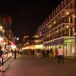 The most famous street in New Orleans, Bourbon street — Stock Photo