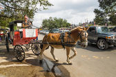 Horse carriage on old street of New Orleans — Stock Photo