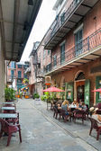 Pirate alley and cafe in New Orleans — Stock Photo