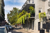 Street of the French quarter of New Orleans — Stock Photo