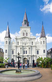St. Louis cathedral in the french quarter of New Orleans — Stock Photo